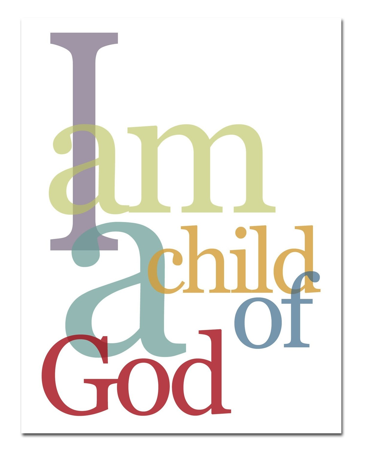 image relating to I Am a Child of God Printable named I AM A Kid OF GOD Pentecostal Theology