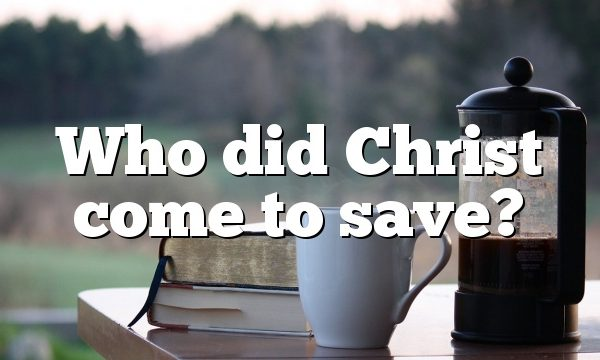 Who did Christ come to save?
