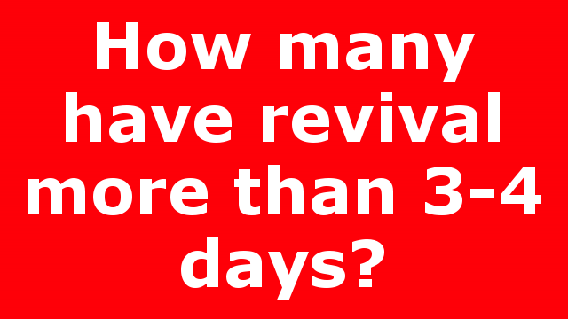 How many have revival more than 3-4 days?