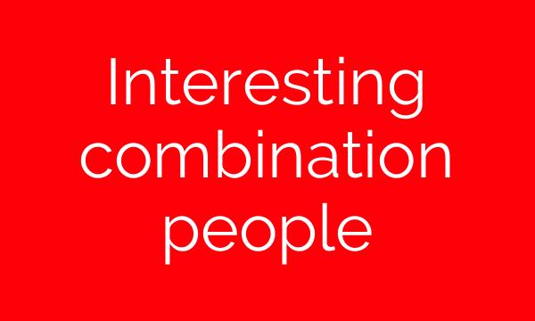 Interesting combination people