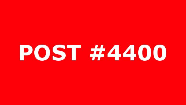 POST #4400
