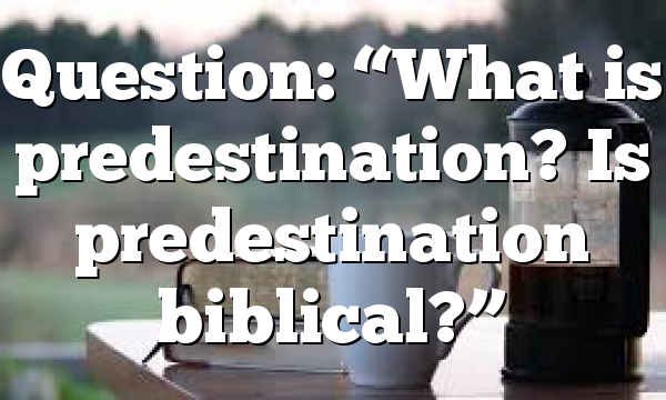 "Question: ""What is predestination? Is predestination biblical?"""