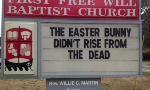 The Easter bunny didn't rise… Christ most certainly did!