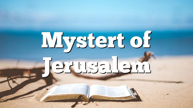 Mystert of Jerusalem