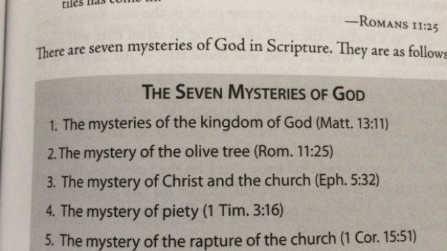 7 Mysteries of GOD (ISRAEL in Romans 11:25 and Dual Covenant Theology)