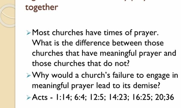 DEAD Churches rarely pray