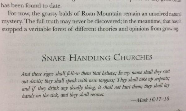 On Pentecostal snake handling again