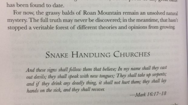 On Pentecostal snake handling again