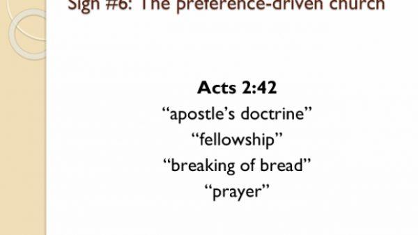 Preference-driven churches