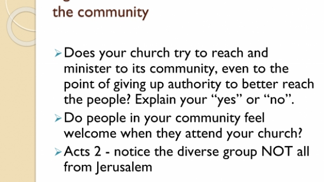 The Church refused to look like the community
