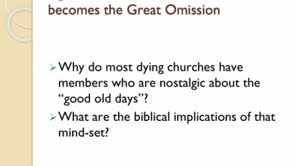 The Great Commission becomes the Great Omission