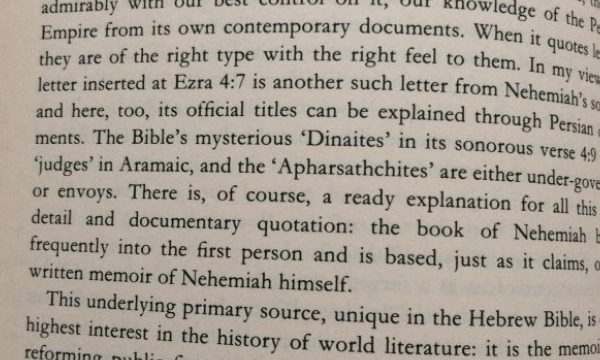 The NEHEMIAH experience through human history