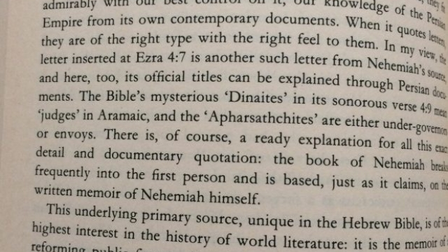 The NEHEMIAH experience through human history