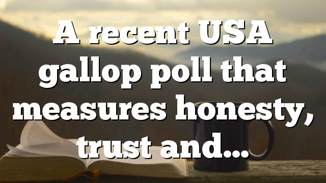 A recent USA gallop poll that measures honesty, trust and…