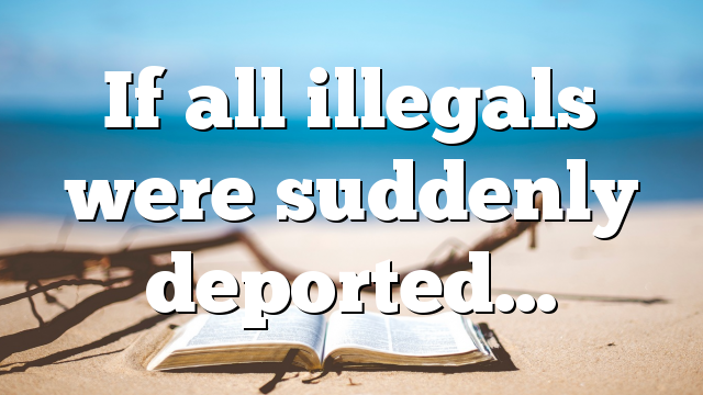 If all illegals were suddenly deported…