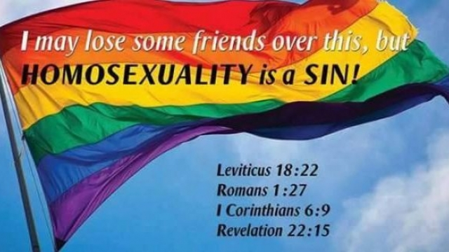 ALL you need to know about the gay homosexual issue from a theological point of view