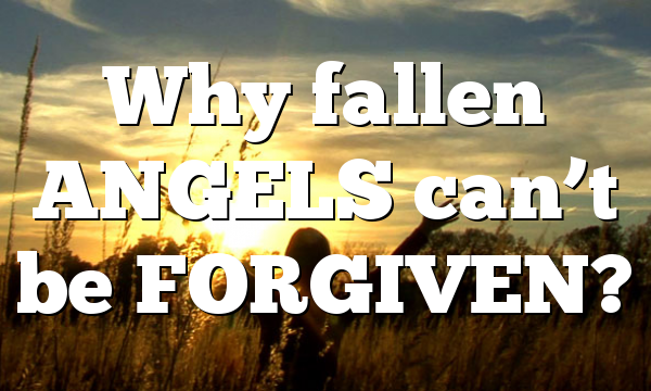 Why fallen ANGELS can't be FORGIVEN?
