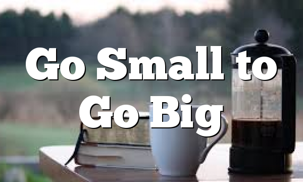 Go Small to Go Big