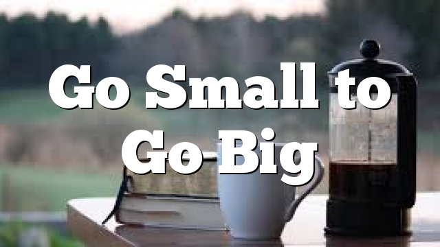 Go Small to Go Big