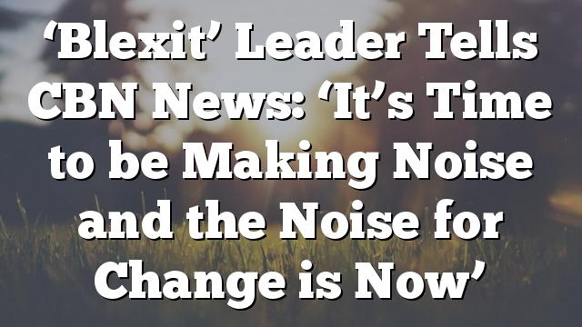'Blexit' Leader Tells CBN News: 'It's Time to be Making Noise and the Noise for Change is Now'
