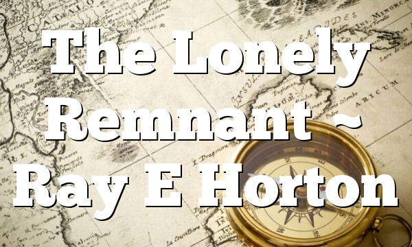 The Lonely Remnant ~ Ray E Horton