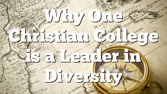 Why One Christian College is a Leader in Diversity