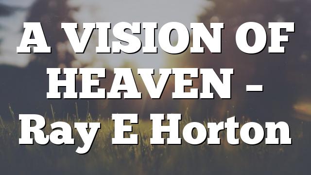 A VISION OF HEAVEN – Ray E Horton