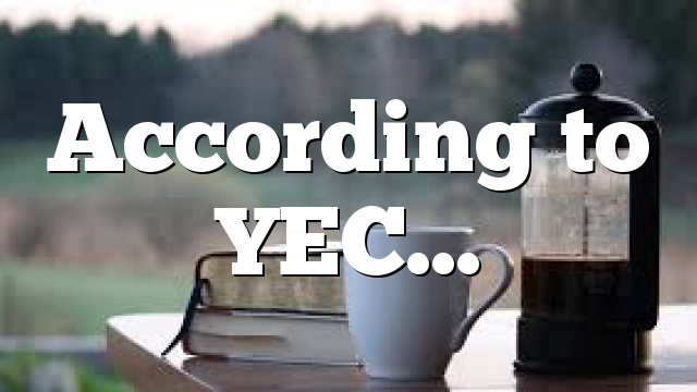 According to YEC…