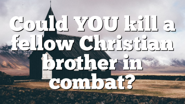 Could YOU kill a fellow Christian brother in combat?