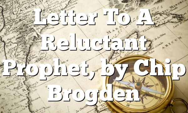 Letter To A Reluctant Prophet, by Chip Brogden