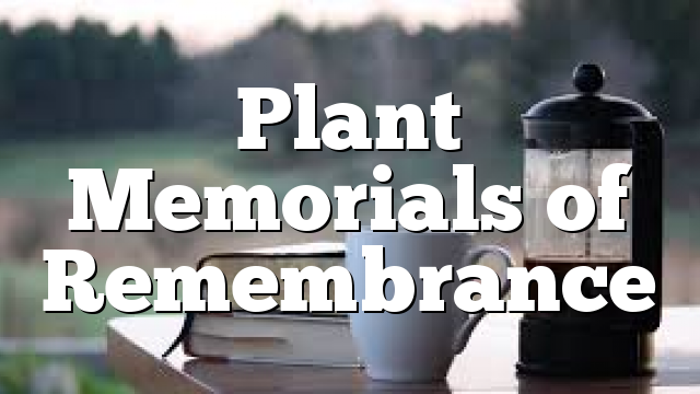 Plant Memorials of Remembrance