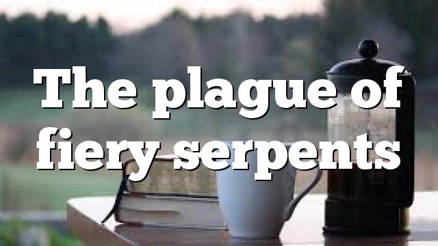 The plague of fiery serpents