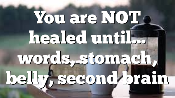 You are NOT healed until… words, stomach, belly, second brain