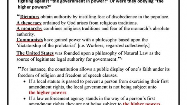 BIBLE: Always obey government? Oh, no…