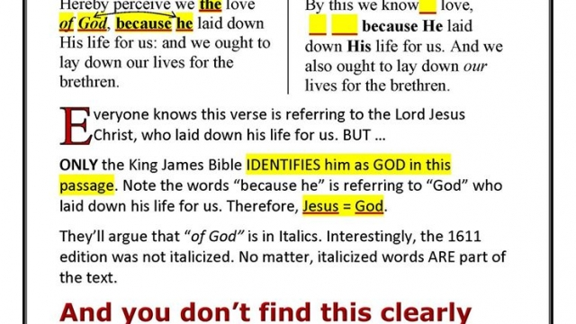 WHY does NKJV eliminate the deity of CHRIST?