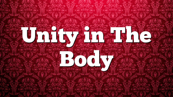 Unity in The Body