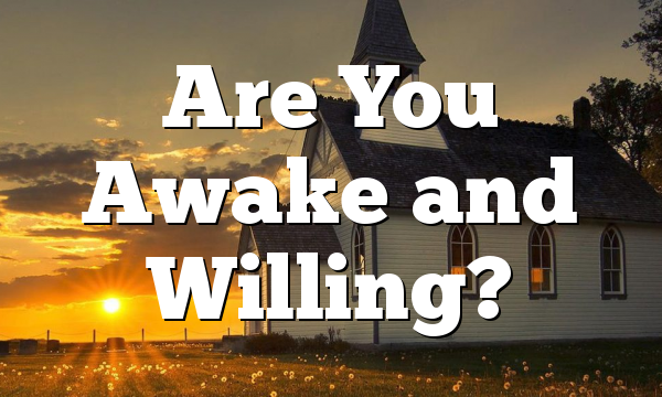 Are You Awake and Willing?