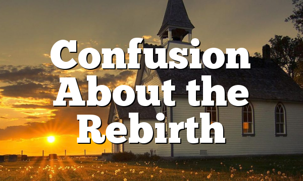 Confusion About the Rebirth
