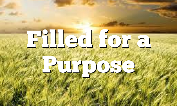 Filled for a Purpose