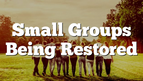 Small Groups Being Restored