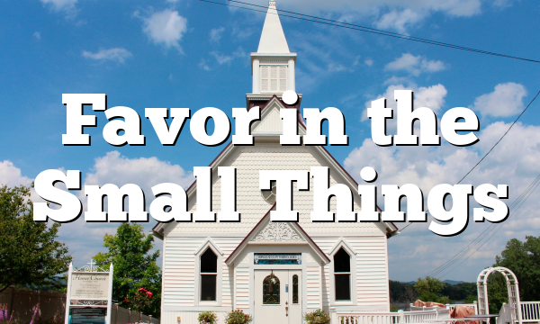 Favor in the Small Things