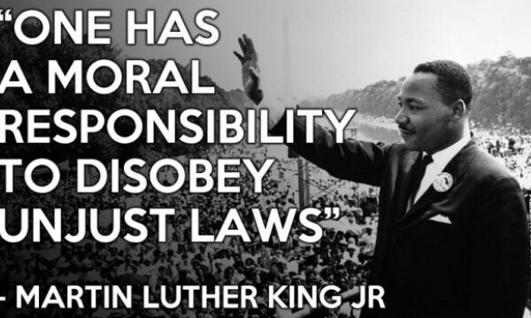 #MLK A just law is a man made code…
