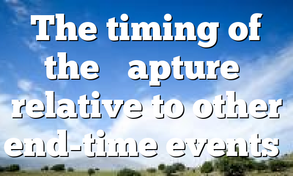 """The timing of the """"Rapture"""" relative to other end-time events…"""