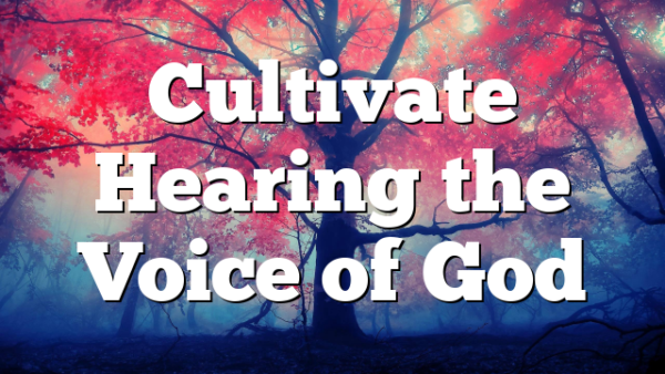 Cultivate Hearing the Voice of God