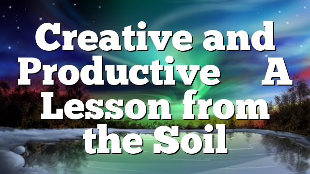 Creative and Productive – A Lesson from the Soil