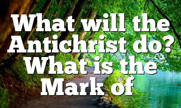 What will the Antichrist do? What is the Mark of…