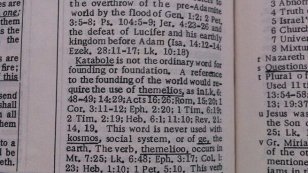 Creation or Catabolism from the Foundation of the World(s)?