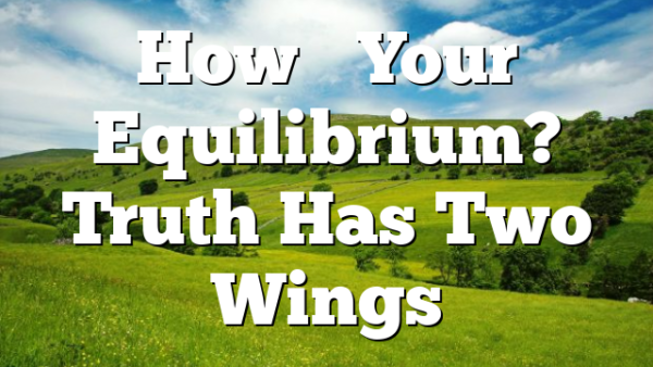 How's Your Equilibrium? Truth Has Two Wings
