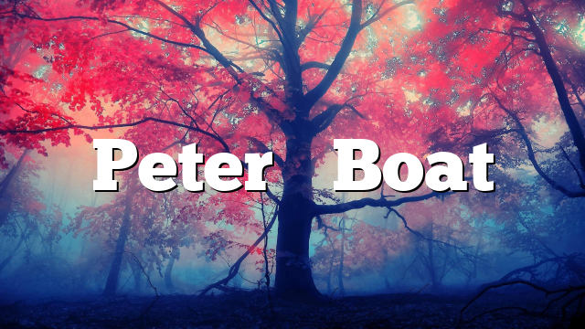 Peter's Boat