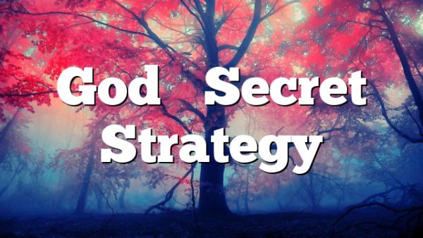 God's Secret Strategy